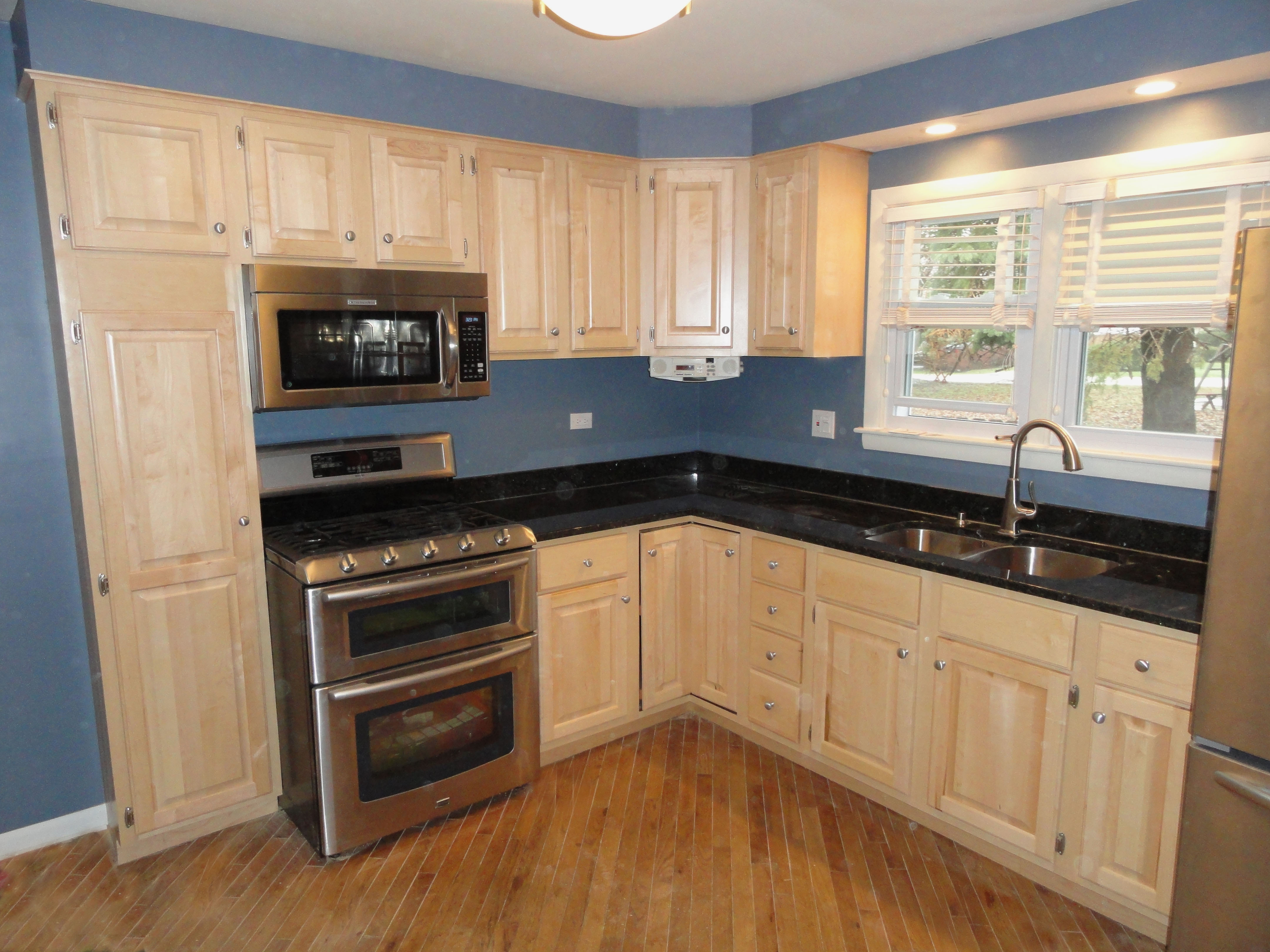 Example : Real Hard Rock Maple Traditional Kitchen. How Long Does Cabinet  Refacing ...