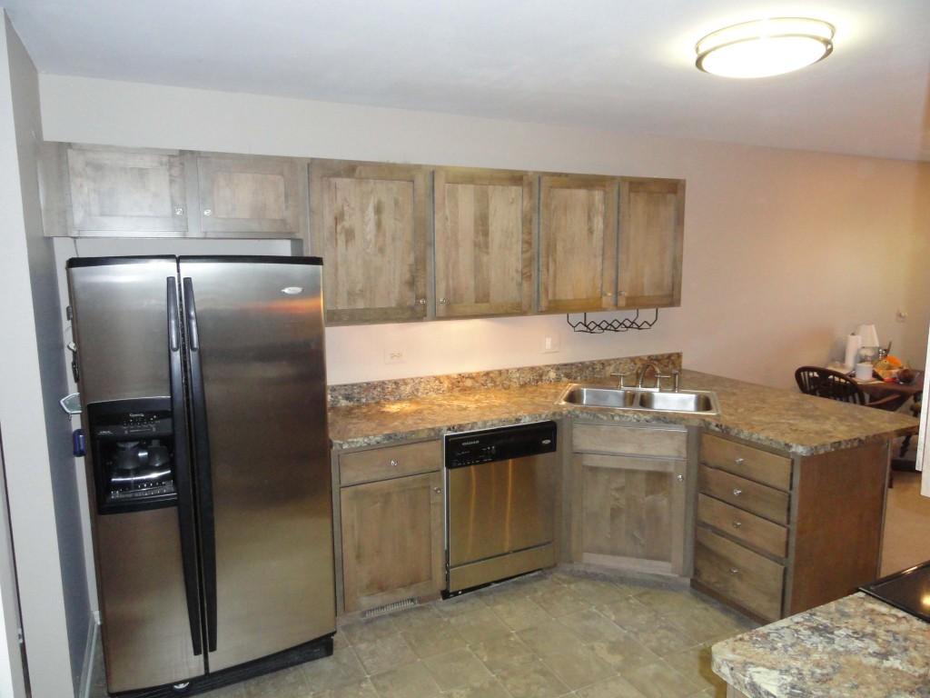 34) Cabinet Refacing With American Walnut Shaker Doors